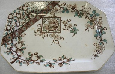 """<em>Platter, Dado pattern</em>., Overall: 1 5/8"""" x 18 1/16"""" x 13 1/2"""". Brooklyn Museum, Gift of Paul F. Walter, 1993.209.181. Creative Commons-BY (Photo: Brooklyn Museum, CUR.1993.209.181.jpg)"""