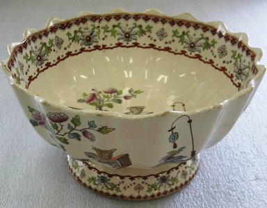 W.T. Copeland & Sons Ltd. Spode Works. <em>Deep Footed Bowl</em>, 1847-ca. 1900. Glazed earthenware with transfer printed decoration, height: 5 1/4 in. (13.3 cm). Brooklyn Museum, Gift of Paul F. Walter, 1993.209.48. Creative Commons-BY (Photo: Brooklyn Museum, CUR.1993.209.48.jpg)