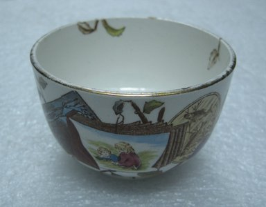 <em>Waste Bowl; Pomegranate Pattern (from Complete Tea Service)</em>, ca. 1880. Glazed earthenware with transfer printed decoration, height: 2 in. (5.0 cm). Brooklyn Museum, Gift of Paul F. Walter, 1993.209.91. Creative Commons-BY (Photo: Brooklyn Museum, CUR.1993.209.91.jpg)