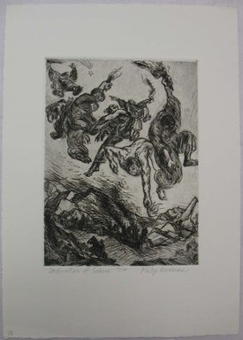 Philip Reisman (American, 1904-1992). <em>Destruction of Sodom</em>, 1927-1934. Etching on paper, sheet: 13 1/8 x 9 1/4 in. (33.3 x 23.5 cm). Brooklyn Museum, Gift of Louise Reisman, 1993.39.18. © artist or artist's estate (Photo: Brooklyn Museum, CUR.1993.39.18.jpg)