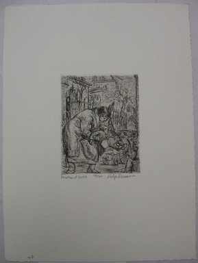 Philip Reisman (American, 1904-1992). <em>Fountain of Youth</em>, 1927-1934. Etching on paper, sheet: 13 1/8 x 9 9/16 in. (33.3 x 24.3 cm). Brooklyn Museum, Gift of Louise Reisman, 1993.39.26. © artist or artist's estate (Photo: Brooklyn Museum, CUR.1993.39.26.jpg)