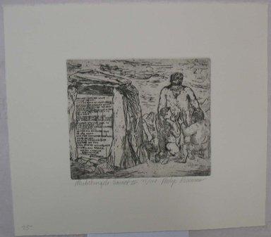 Philip Reisman (American, 1904-1992). <em>Michelangelo Sonnet II</em>, 1927-1934. Etching on paper, sheet: 9 11/16 x 10 15/16 in. (24.6 x 27.8 cm). Brooklyn Museum, Gift of Louise Reisman, 1993.39.35. © artist or artist's estate (Photo: Brooklyn Museum, CUR.1993.39.35.jpg)