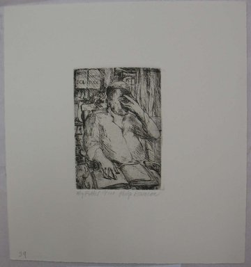 Philip Reisman (American, 1904-1992). <em>My Father</em>, 1927-1934. Etching on paper, sheet: 9 9/16 x 8 13/16 in. (24.3 x 22.4 cm). Brooklyn Museum, Gift of Louise Reisman, 1993.39.38. © artist or artist's estate (Photo: Brooklyn Museum, CUR.1993.39.38.jpg)