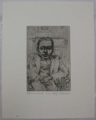 Philip Reisman (American, 1904-1992). <em>My Friend Smith</em>, 1927-1934. Etching on paper, sheet: 10 5/8 x 8 9/16 in. (27 x 21.8 cm). Brooklyn Museum, Gift of Louise Reisman, 1993.39.39. © artist or artist's estate (Photo: Brooklyn Museum, CUR.1993.39.39.jpg)