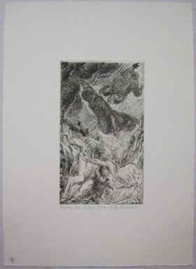 Philip Reisman (American, 1904-1992). <em>Before the Deluge</em>, 1927-1934. Etching on paper, sheet: 13 5/16 x 9 5/8 in. (33.8 x 24.4 cm). Brooklyn Museum, Gift of Louise Reisman, 1993.39.8. © artist or artist's estate (Photo: Brooklyn Museum, CUR.1993.39.8.jpg)