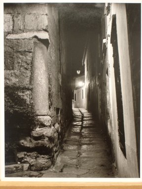Anatoly Pronin (American, born Russia, 1939). <em>Calle de Salazar at Night, Jewish Quarter, Cordoba, Spain and Calle de Salazar Jewish Quarter, Cordoba, Spain</em>, 1990. Gelatin silver photograph, sheet (each): 13 3/4 × 10 7/8 in. (34.9 × 27.6 cm). Brooklyn Museum, Robert A. Levinson Fund, 1993.52a-b. © artist or artist's estate (Photo: Brooklyn Museum, CUR.1993.52a.jpg)