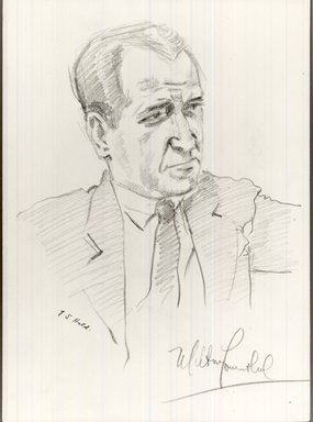 "Julius S. Held (American, born Germany, 1905-2002). <em>Milton Lowenthal (recto); ""Moll"" Flanders (verso)</em>, 1939. Graphite on wove paper, sheet: 13 7/8 x 9 7/8 in. (35.2 x 25.1 cm). Brooklyn Museum, Gift of the artist, 1993.86a-b. © artist or artist's estate (Photo: Brooklyn Museum, CUR.1993.86a-b_view1.jpg)"