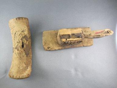 Tellem. <em>Headrest</em>, 11th-13th century. Wood, 6 x 11 1/2 x 3 1/2 in. (15.2 x 29.2 x 9.0 cm). Brooklyn Museum, Gift of William C. Siegmann, 1994.186.1. Creative Commons-BY (Photo: Brooklyn Museum, CUR.1994.186.1_top_view2.jpg)