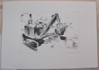Louis Lozowick (American, born Russia, 1892-1973). <em>Steam Shovel</em>, 1930. Lithograph, Sheet: 14 1/4 x 20 in. (36.2 x 50.8 cm). Brooklyn Museum, Gift of Lee Lozowick, 1994.216.3. © artist or artist's estate (Photo: Brooklyn Museum, CUR.1994.216.3.jpg)