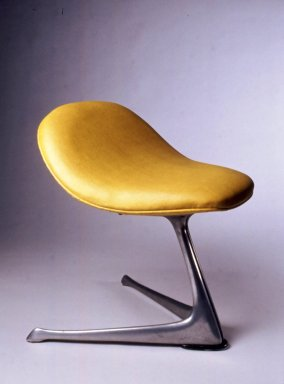 Vladimir Kagan Designs. <em>Stool</em>, ca.1960. Metal, vinyl, 23 x 19 x 19 in. (58.4 x 48.2 x 48.2 cm). Brooklyn Museum, Gift of Della Petrick Rothermel in memory of John Petrick Rothermel, 1994.61.26. Creative Commons-BY (Photo: Brooklyn Museum, CUR.1994.61.26.jpg)