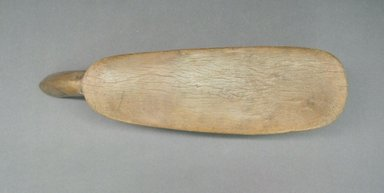Lobi. <em>Stool</em>, 20th century. Wood, 2 3/4 x 16 x 4 in. (7 x 40.6 x 10.2 cm). Brooklyn Museum, Gift of Eugene and Harriet Becker, 1995.170.2. Creative Commons-BY (Photo: Brooklyn Museum, CUR.1995.170.2_top.jpg)