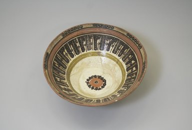 <em>Bowl</em>, 9th-10th century. Earthenware and slip, 3 3/4 x 9 7/16 in. (9.5 x 23.9 cm). Brooklyn Museum, Gift of Mena Rokhsar in memory of Ebrahim Khalil Rokhsar, 1995.187.1. Creative Commons-BY (Photo: Brooklyn Museum, CUR.1995.187.1.jpg)