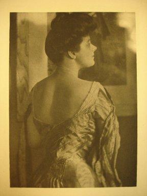 Gertrude Kasebier (American, 1852-1934). <em>Mrs. Philip Lydig</em>, 1905. Photogravure, sheet: 11 3/4 x 8 1/4 in. Brooklyn Museum, Gift of Mitchell F. Deutsch, 1995.206.16 (Photo: Brooklyn Museum, CUR.1995.206.16.jpg)