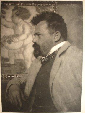Frank Eugene (American, 1865-1936). <em>Prof. Adolf Hengeler</em>, 1910. Photogravure, image: 6 3/4 x 4 7/8 in. (17.1 x 12.4 cm). Brooklyn Museum, Gift of Mitchell F. Deutsch, 1995.206.24 (Photo: Brooklyn Museum, CUR.1995.206.24.jpg)