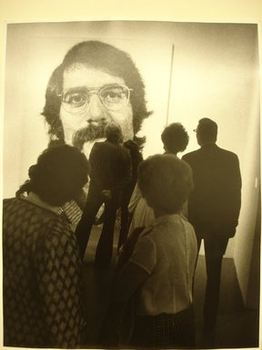 Leon Levinstein (American, 1910-1988). <em>[Untitled] (Chuck Close Exhibition, Robert/104,072)</em>, ca. 1973. Gelatin silver photograph, sheet: 14 x 11 in. (35.6 x 27.9 cm). Brooklyn Museum, Gift of Stuart Karu, 1995.209.7. © artist or artist's estate (Photo: Brooklyn Museum, CUR.1995.209.7.jpg)
