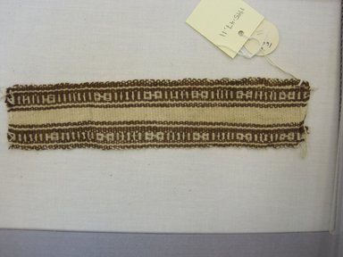 <em>Textile Fragment, Undetermined</em>, 1400-1700. Cotton, (21.5 x 5.0 cm). Brooklyn Museum, Gift of Kay Hodnett Nunez, 1995.47.11. Creative Commons-BY (Photo: Brooklyn Museum, CUR.1995.47.11.jpg)