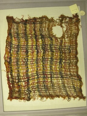 Chancay. <em>Textile, Undetermined</em>, 1532-1700. Cotton, camelid fiber, 15 3/8 × 16 1/8 in. (39.1 × 41 cm). Brooklyn Museum, Gift of Kay Hodnett Nunez, 1995.47.41. Creative Commons-BY (Photo: Brooklyn Museum, CUR.1995.47.41.jpg)