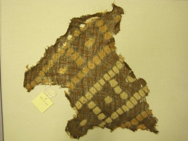<em>Headcloth, Fragment</em>, 1000-1400. Cotton, (34.5 x 35.5 cm). Brooklyn Museum, Gift of Kay Hodnett Nunez, 1995.47.48. Creative Commons-BY (Photo: Brooklyn Museum, CUR.1995.47.48.jpg)