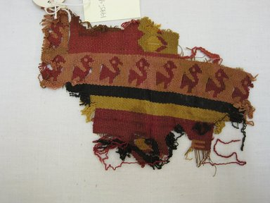 Chancay. <em>Textile Fragment, Undetermined</em>, 1400-1532. Cotton, camelid fiber, (12.0 x 16.0 cm). Brooklyn Museum, Gift of Kay Hodnett Nunez, 1995.47.52. Creative Commons-BY (Photo: Brooklyn Museum, CUR.1995.47.52.jpg)