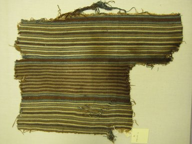 Chancay. <em>Textile Fragment, Undetermined</em>, 1400-1700 C.E. Cotton, 12 3/16 x 16 9/16 in. (31 x 42 cm). Brooklyn Museum, Gift of Kay Hodnett Nunez, 1995.47.6. Creative Commons-BY (Photo: Brooklyn Museum, CUR.1995.47.6.jpg)