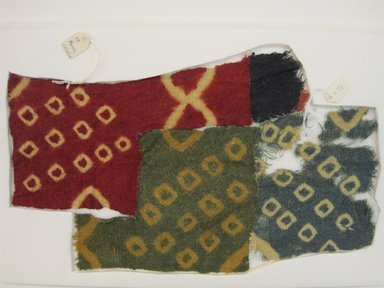 Coastal Wari. <em>Tunic, Fragment</em>, 600-1400. Camelid fiber, (33.5 x 20.5 cm). Brooklyn Museum, Gift of Kay Hodnett Nunez, 1995.47.79. Creative Commons-BY (Photo: Brooklyn Museum, CUR.1995.47.79.jpg)