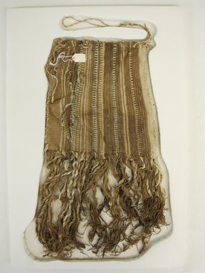 <em>Bag</em>, 1400-1532. Cotton, 14 15/16 × 7 1/2 in. (37.9 × 19.1 cm). Brooklyn Museum, Gift of Kay Hodnett Nunez, 1995.47.83. Creative Commons-BY (Photo: Brooklyn Museum, CUR.1995.47.83_view1.jpg)