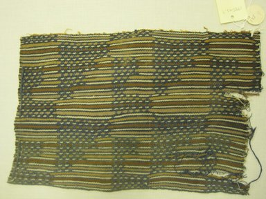 Chancay. <em>Textile Fragment, Undetermined</em>, 1400-1700. Textile. Cotton, (34.0 x 22.0 cm). Brooklyn Museum, Gift of Kay Hodnett Nunez, 1995.47.9. Creative Commons-BY (Photo: Brooklyn Museum, CUR.1995.47.9.jpg)