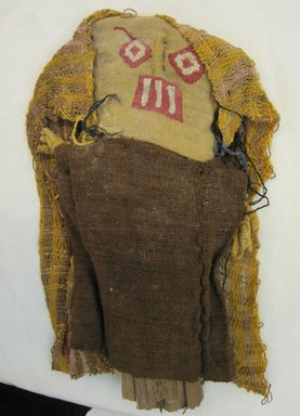 Chancay. <em>Funerary Doll</em>, 1400-1532. Cotton, camelid fiber, plant fibers, 12 × 7 × 1 in. (30.5 × 17.8 × 2.5 cm). Brooklyn Museum, Gift of Kay Hodnett Nunez, 1995.84.5. Creative Commons-BY (Photo: Brooklyn Museum, CUR.1995.84.5_front.jpg)