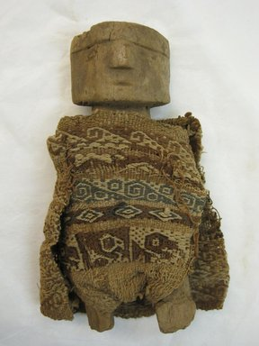 <em>Toy Figurine, Male</em>, 1400-1532. Textile. Cotton, wood, 5 11/16 × 5 1/8 in. (14.4 × 13 cm). Brooklyn Museum, Gift of Kay Hodnett Nunez, 1995.84.6. Creative Commons-BY (Photo: Brooklyn Museum, CUR.1995.84.6_front.jpg)