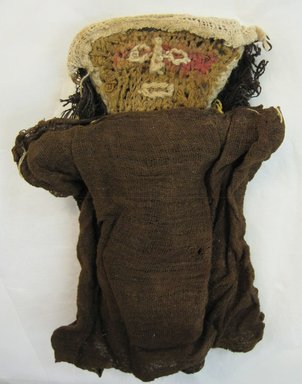 Chancay. <em>Funerary Doll</em>. Cotton, camelid fiber, 8 11/16 x 6 5/16in. (22 x 16cm). Brooklyn Museum, Gift of Kay Hodnett Nunez, 1995.84.7. Creative Commons-BY (Photo: Brooklyn Museum, CUR.1995.84.7_front.jpg)
