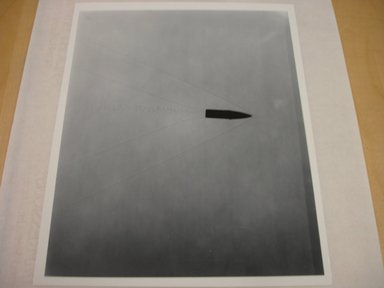 Harold Edgerton (American, 1903 - 1990). <em>Bullet</em>. Gelatin silver photograph, image: 9 3/8 x 7 5/8 in. (23.8 x 19.4 cm). Brooklyn Museum, Gift of The Harold and Esther Edgerton Family Foundation, 1996.166.34. Creative Commons-BY (Photo: Brooklyn Museum, CUR.1996.166.34.jpg)