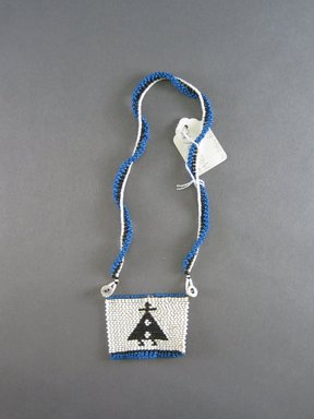 Xhosa. <em>Neck Ornament (Iphoco)</em>, 1930s-1940s. Glass seed beads, fiber, 3 x 2 1/2 in. (7.6 x 6.4 cm). Brooklyn Museum, Gift of Eugene and Harriet Becker, 1996.196.10. Creative Commons-BY (Photo: Brooklyn Museum, CUR.1996.196.10.jpg)