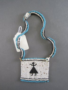 Xhosa. <em>Neck Ornament (Iphoco)</em>, 1930s-1940s. Glass seed beads, fiber, 3 1/4 x 2 3/4 in. (8.3 x 7.0 cm). Brooklyn Museum, Gift of Eugene and Harriet Becker, 1996.196.11. Creative Commons-BY (Photo: Brooklyn Museum, CUR.1996.196.11_overall.jpg)