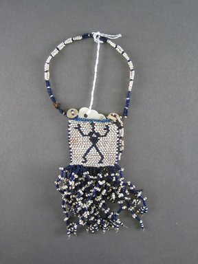 Xhosa. <em>Neck Ornament (Iphoco)</em>, 1930s-1940s. Glass beads, fiber, 2 1/4 x 2 3/8 in. (5.7 x 6.0 cm). Brooklyn Museum, Gift of Eugene and Harriet Becker, 1996.196.12. Creative Commons-BY (Photo: Brooklyn Museum, CUR.1996.196.12_overall.jpg)