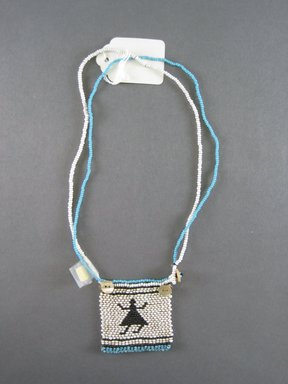 Xhosa (Thembu subgroup). <em>Neck Ornament (Iphoco)</em>, 1930s-1940s. Glass seed beads, fiber, 2 1/8 x 2 in. (5.4 x 5.1 cm). Brooklyn Museum, Gift of Eugene and Harriet Becker, 1996.196.13. Creative Commons-BY (Photo: Brooklyn Museum, CUR.1996.196.13_overall.jpg)