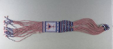 Possibly Xhosa (Thembu subgroup). <em>Neck Ornament (Iphoco)</em>, 1930-1940s. Glass seed beads, fiber, 26 1/2 x 2 3/4 in. (67.3 x 7.0 cm). Brooklyn Museum, Gift of Eugene and Harriet Becker, 1996.196.7. Creative Commons-BY (Photo: Brooklyn Museum, CUR.1996.196.7_overall.jpg)