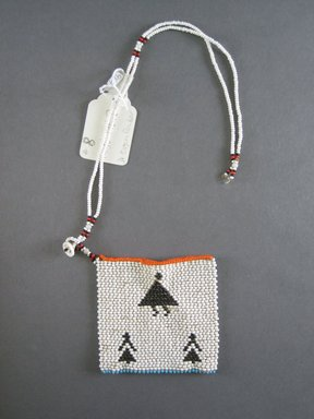 Xhosa. <em>Neck Ornament (Iphoco)</em>, 1930s-1940s. Glass beads, fiber, 3 1/2 x 3 1/2 in. (8.9 x 8.9 cm). Brooklyn Museum, Gift of Eugene and Harriet Becker, 1996.196.8. Creative Commons-BY (Photo: Brooklyn Museum, CUR.1996.196.8_overall.jpg)