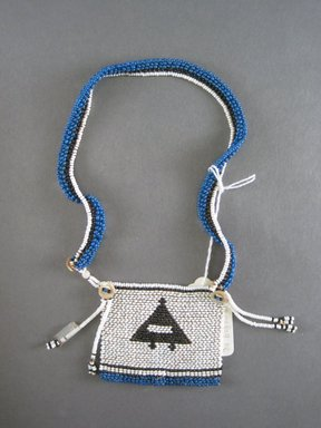 Xhosa (Thembu subgroup). <em>Neck Ornament (Iphoco)</em>, 1930s-1940s. Glass seed beads, fiber, 3 1/4 x 3 in. (8.3 x 7.6 cm). Brooklyn Museum, Gift of Eugene and Harriet Becker, 1996.196.9. Creative Commons-BY (Photo: Brooklyn Museum, CUR.1996.196.9_overall.jpg)
