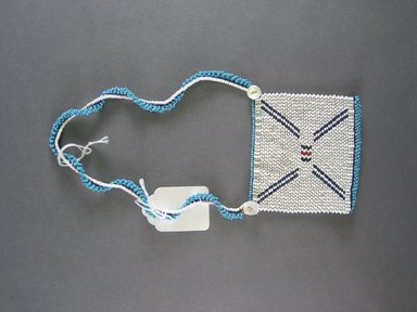 Xhosa. <em>Neck Ornament (Iphoco)</em>, 1930s to possibly 1960s. Glass seed beads, fiber, 3 3/4 x 3 3/4 in. (9.5 x 9.5 cm). Brooklyn Museum, Gift of Mr. and Mrs. Lee Lorenz, 1996.202.12. Creative Commons-BY (Photo: Brooklyn Museum, CUR.1996.202.12_overall.jpg)