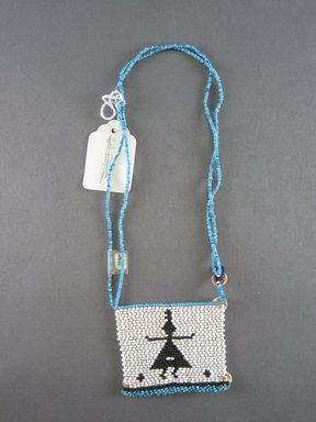 Xhosa (Thembu subgroup). <em>Neck Ornament (Iphoco)</em>, 1930s-1940s. Glass seed beads, fiber, 3 1/4 x 3 1/4 in. (8.3 x 8.3 cm). Brooklyn Museum, Gift of Mr. and Mrs. Lee Lorenz, 1996.202.15. Creative Commons-BY (Photo: Brooklyn Museum, CUR.1996.202.15_overall.jpg)