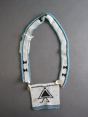 Xhosa (Thembu subgroup). <em>Neck Ornament (Iphoco)</em>, 20th century. Glass seed beads, fiber, 2 1/2 x 2 3/4 in. (6.4 x 7.0 cm). Brooklyn Museum, Gift of Mr. and Mrs. Lee Lorenz, 1996.202.18. Creative Commons-BY (Photo: Brooklyn Museum, CUR.1996.202.18_overall.jpg)