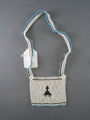 Xhosa (Thembu subgroup). <em>Neck Ornament (Iphoco)</em>, 20th century. Glass seed beads, fiber, 3 3/4 x 3 1/8 in. (9.5 x 7.9 cm). Brooklyn Museum, Gift of Mr. and Mrs. Lee Lorenz, 1996.202.20. Creative Commons-BY (Photo: Brooklyn Museum, CUR.1996.202.20_overall.jpg)