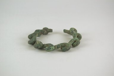 <em>Bracelet</em>, 19th century or earlier. Brass, Dia: 3 3/4 in. (9.5 cm). Brooklyn Museum, Gift of Mr. and Mrs. Lee Lorenz, 1996.202.22. Creative Commons-BY (Photo: Brooklyn Museum, CUR.1996.202.22_PS5.jpg)