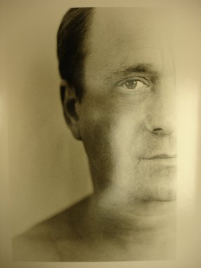 Ralph Gibson (American, born 1939). <em>Ross Bleckner</em>, 1995. Gelatin silver photograph, image: 12 1/2 x 8 1/4 in. (31.8 x 21 cm). Brooklyn Museum, Gift of Mary Jane Marcasiano, 1996.240a-d. © artist or artist's estate (Photo: Brooklyn Museum, CUR.1996.240a.jpg)