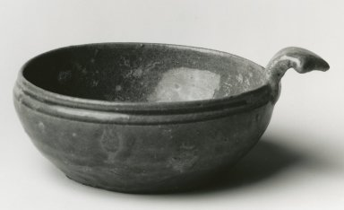 <em>Drinking Bowl, Yue Ware</em>, 265-588 C.E. Glazed stoneware, 2 1/2 x approx. 6 in. Brooklyn Museum, Gift of George and Katharine Fan, 1996.26.18. Creative Commons-BY (Photo: Brooklyn Museum, CUR.1996.26.18_bw.jpg)