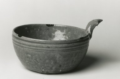 <em>Drinking Bowl, Yue Ware</em>, 265-588 C.E. Glazed stoneware, 3 x 5 3/4 in. Brooklyn Museum, Gift of George and Katharine Fan, 1996.26.19. Creative Commons-BY (Photo: Brooklyn Museum, CUR.1996.26.19_bw.jpg)