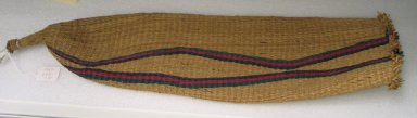 Zulu. <em>Beer Strainer</em>, mid-20th century. Woven grass, dye, L: 25 in. (63.5 cm). Brooklyn Museum, Anonymous gift, 1997.103.12. Creative Commons-BY (Photo: Brooklyn Museum, CUR.1997.103.12.jpg)
