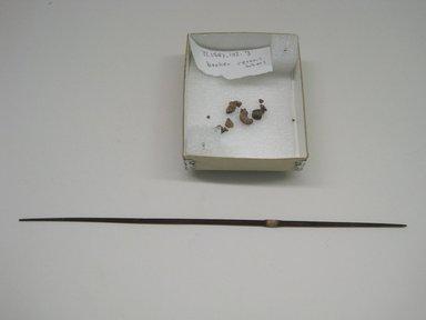 <em>Spindle</em>, 1000-1476 C.E. Wood, ceramic, cotton?, camelid fiber?, 1/8 x 1/8 x 9 7/8 in. (0.3 x 0.3 x 25.1 cm). Brooklyn Museum, Gift of Morris De Camp Crawford, Jr., 1997.104.3. Creative Commons-BY (Photo: Brooklyn Museum, CUR.1997.104.3.jpg)