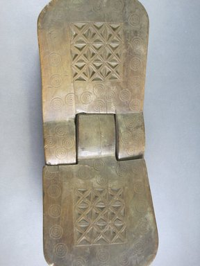 Swahili. <em>Coconut Grater</em>, late 19th-early 20th century. Wood, metal, length: 22 1/4 in. (56.5 cm). Brooklyn Museum, Gift of Drs. John I. and Nicole Dintenfass, 1997.167.4. Creative Commons-BY (Photo: Brooklyn Museum, CUR.1997.167.4_detail_view2.jpg)