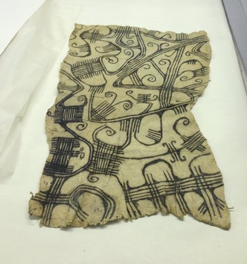 Mbuti Efe. <em>Loin Cloth</em>, 20th century. Bark cloth, pigment, 18 x 30 in.  (45.7 x 76.2 cm). Brooklyn Museum, Purchase gift of Beatrice Riese, 1997.19.2. Creative Commons-BY (Photo: Brooklyn Museum, CUR.1997.19.2.jpg)